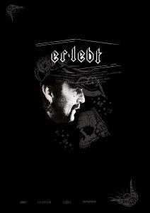 Grafik für Er lebt, Filmplakat in schwarz, heavy metal