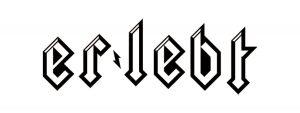Er lebt Logo Design, Heavy metal font