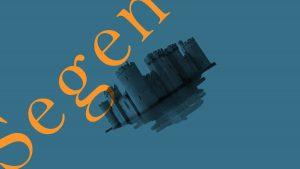 Collage NiIbelungen Motion Design Burg historisch blau Haussegen Erklärfilm