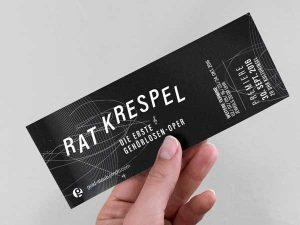 Ticket Design Theater Grafik