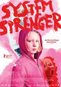 Grafik Design für Berlinale Film Systemsprenger, Plakat in pink für Weydemann Bros., Kineo, Oma Inge Film