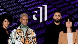 deep und deutlich Branding Redesign Talkshow Aminata Belli Tarek Tesfu, Motrip, Louisa Dellert