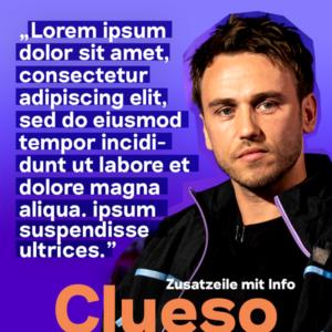 deep und deutlich Thumbnail Clueso Typografie Logo